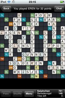 Wordfeud score
