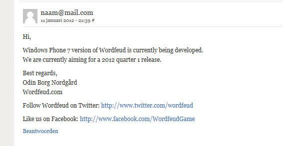 wordfeud e-mail