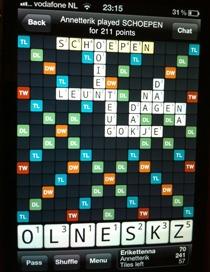 Wordfeudwoord-score